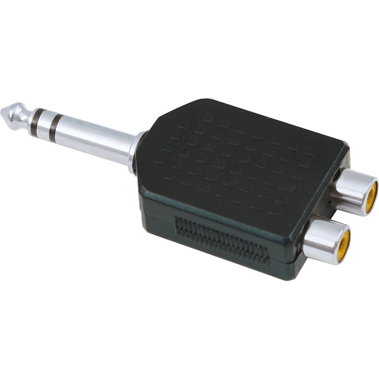 American Recorder Technologies1/4 inch Male Stereo to 2 RCA Female AdapterNickel