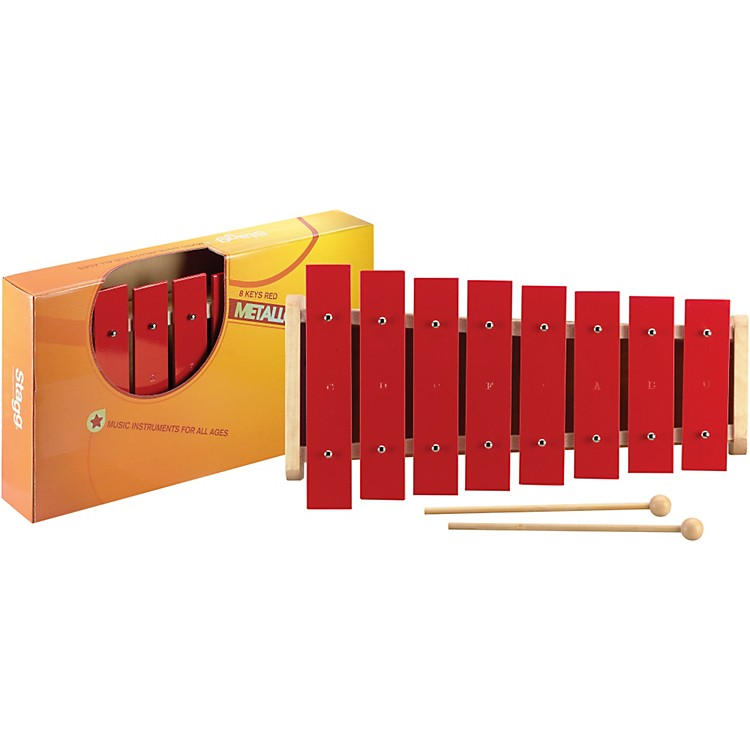 Stagg1 Octave Metallophone, 8 Keys, C-CRed