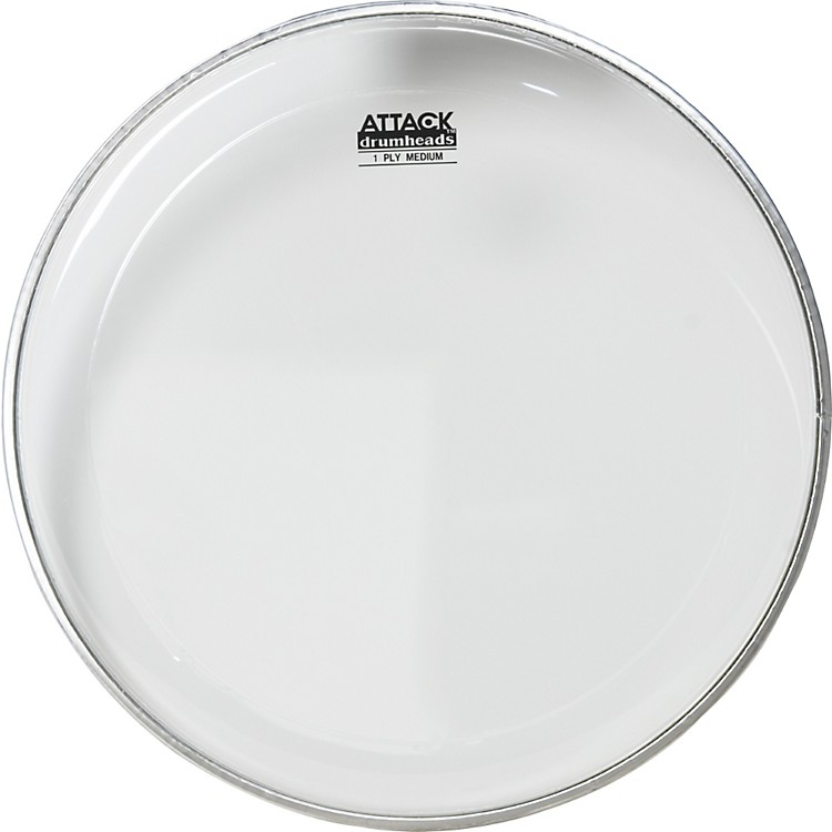 Attack 1-Ply Medium Clear Drumhead  #602 Bistro Black