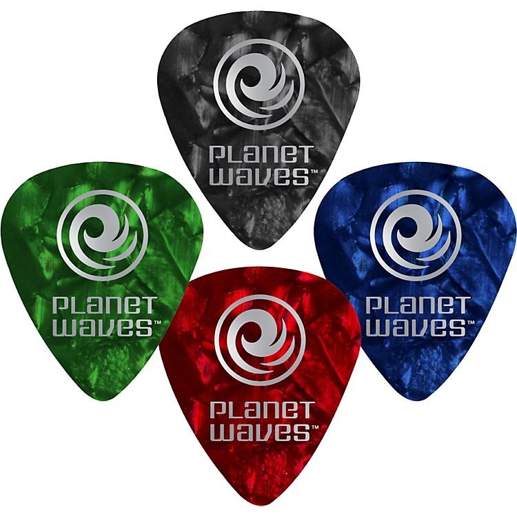 D'Addario Planet Waves10 Standard Celluloid PicksHeavyBlue Pearl