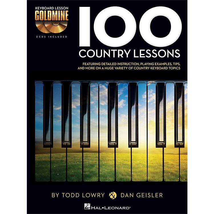 Hal Leonard100 Country Lessons - Keyboard Lesson Goldmine Series Series Book/2-CD Pack