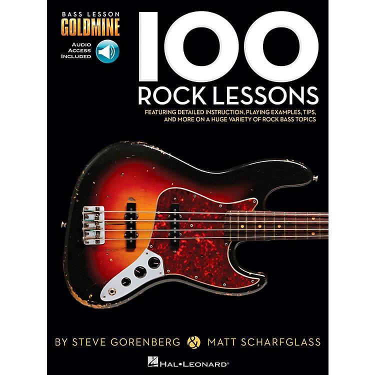 Hal Leonard100 Rock Lessons - Bass Lesson Goldmine Series Book/Online Audio