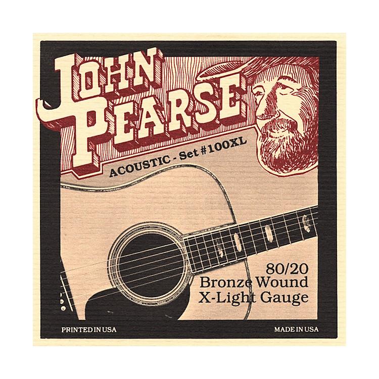 John Pearse100XL 80/20 Bronze Acoustic Guitar Strings