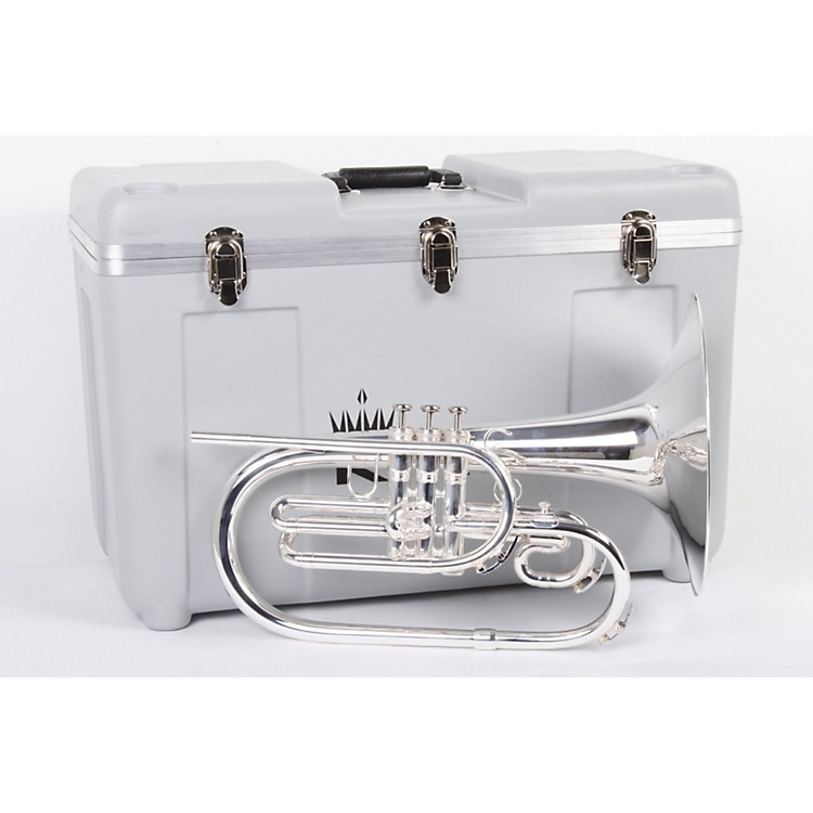 King 1121 Ultimate Series Marching F Mellophone 1121SP Silver 886830485718