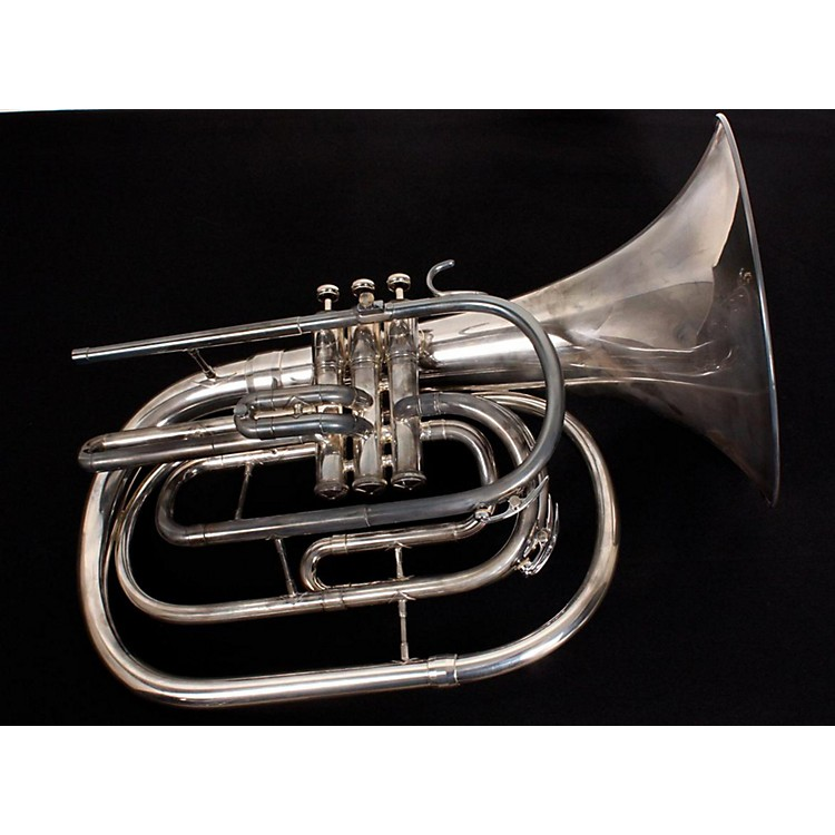 King 1122 Ultimate Series Marching Bb French Horn 1122SP Silver 889406775008