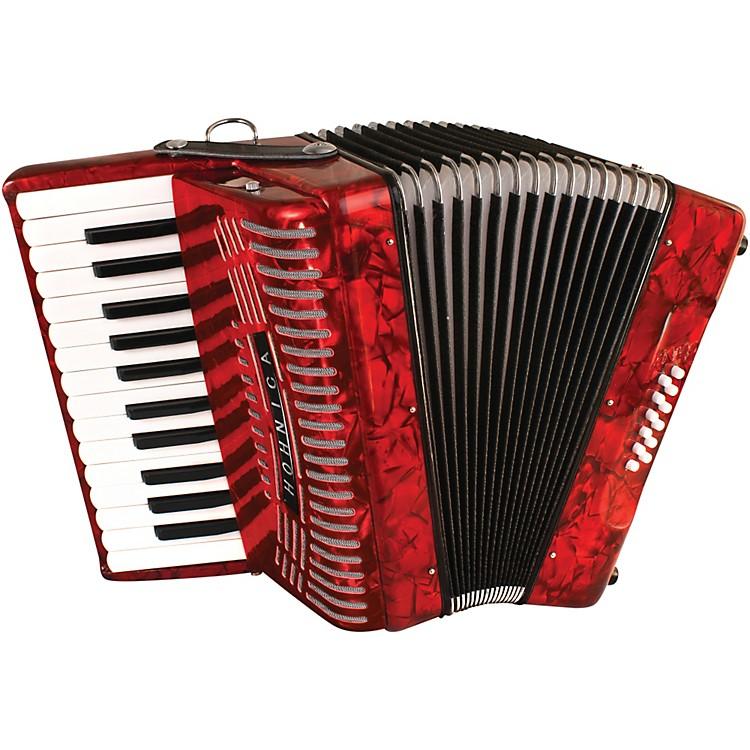 Hohner12 Bass Entry Level Piano AccordionRed