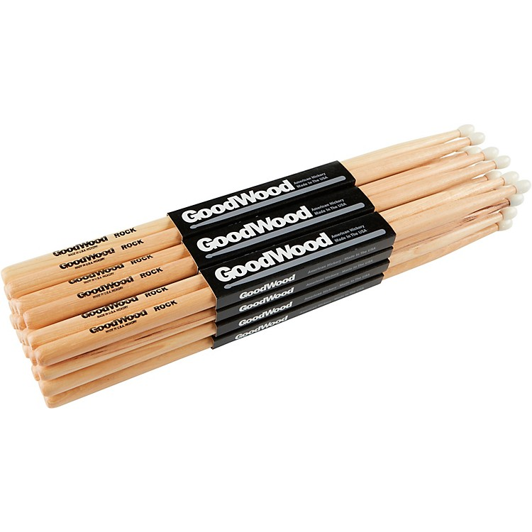 Goodwood 12-Pack Drumsticks Rock Nylon