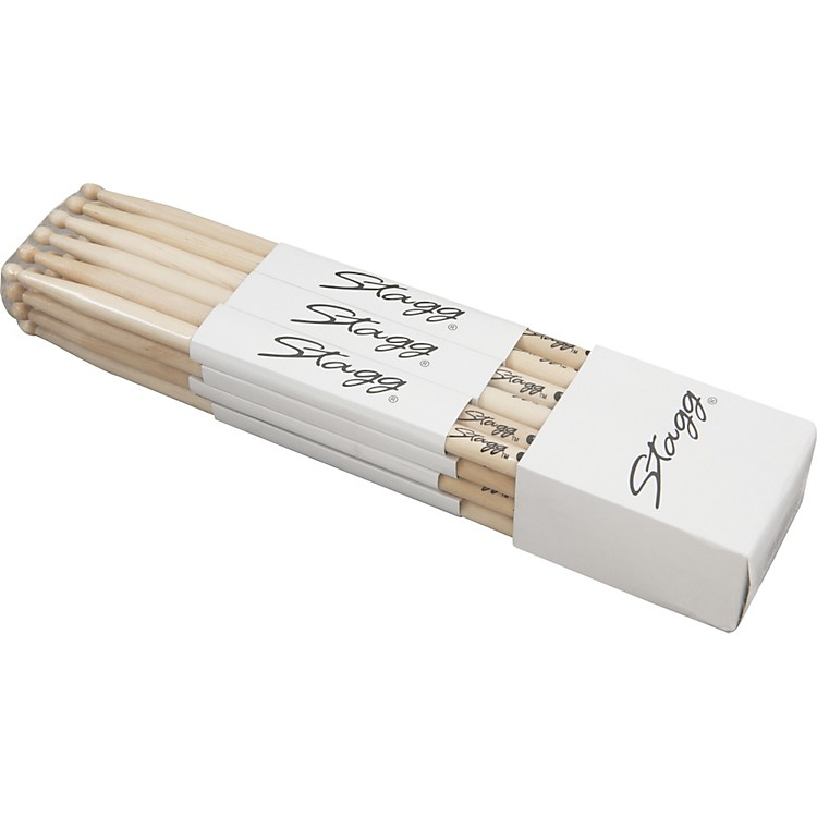 Stagg 12-Pair Birch Drumsticks 5A
