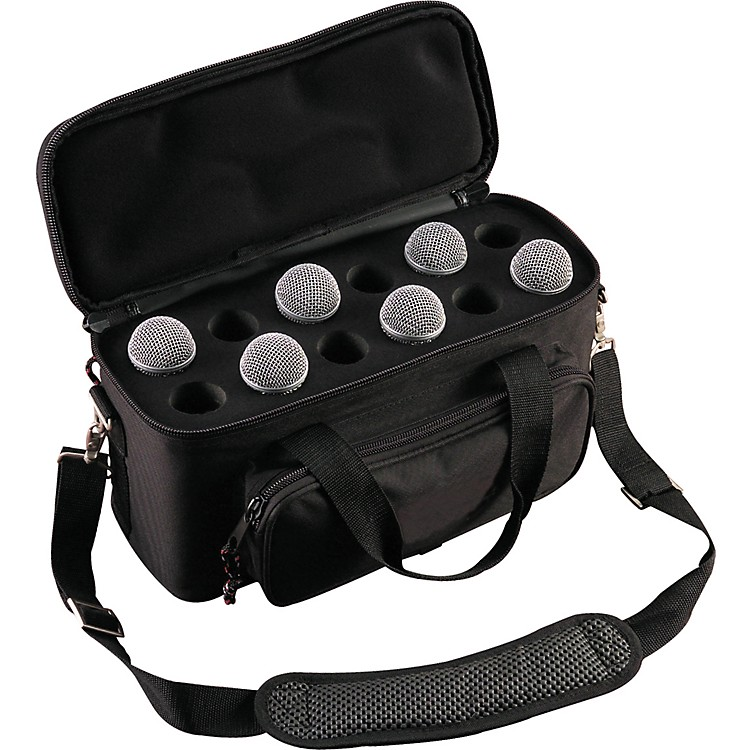 Musician's Gear 12-Space Microphone Bag Black