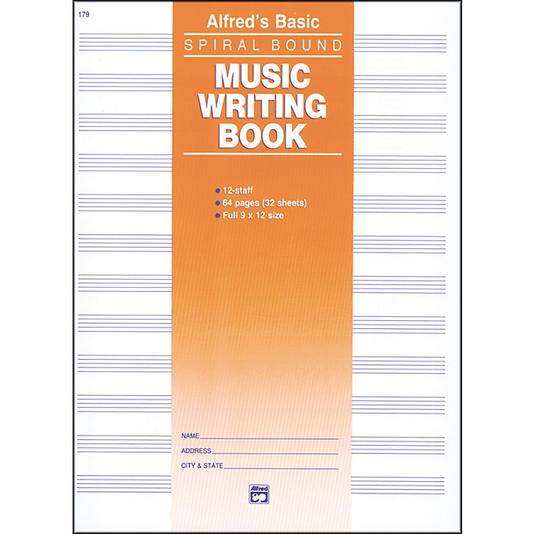 Alfred12 Stave Music Writing Book (9 x 12)