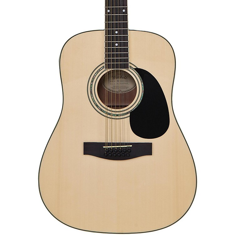 Mitchell 12-String Dreadnought Acoustic-Electric Guitar Natural