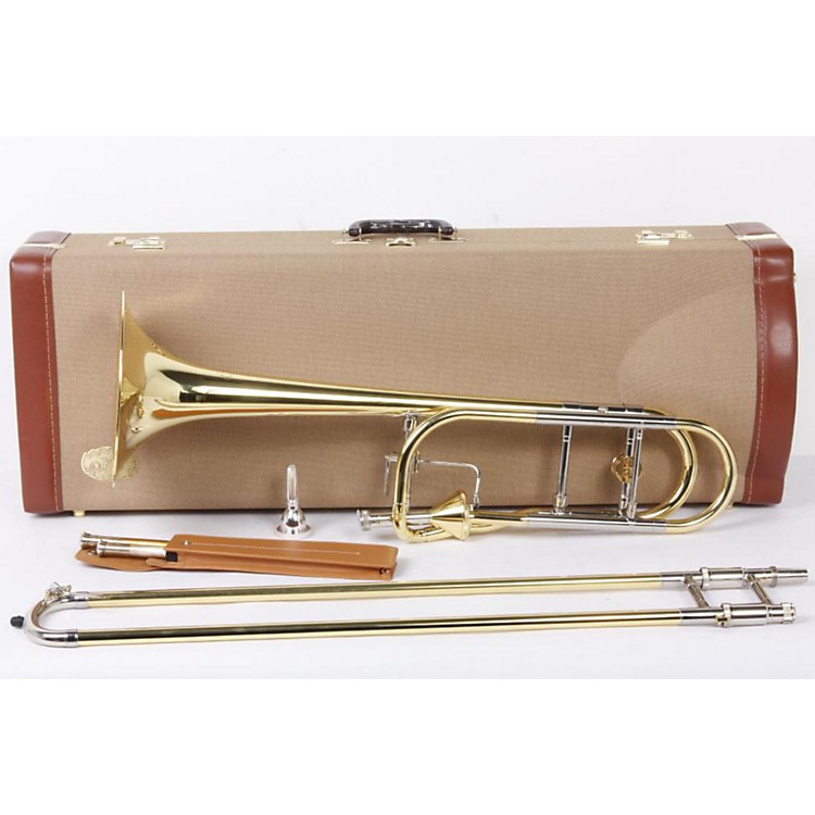 XO 1236 Professional Series F-Attachment Trombone 1236L-T Lacquer - Thayer Valve and Yellow Brass Bell 886830485756
