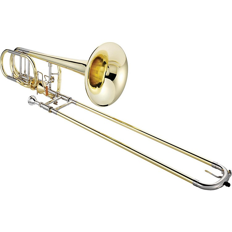 XO 1240 Professional Series Bass Trombone with Thru-Flo Valve Lacquer Yellow Brass Bell