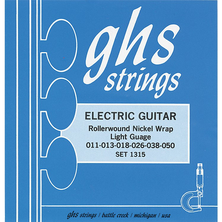 GHS 1315 Rollerwound Nickel Wrap Light Strings