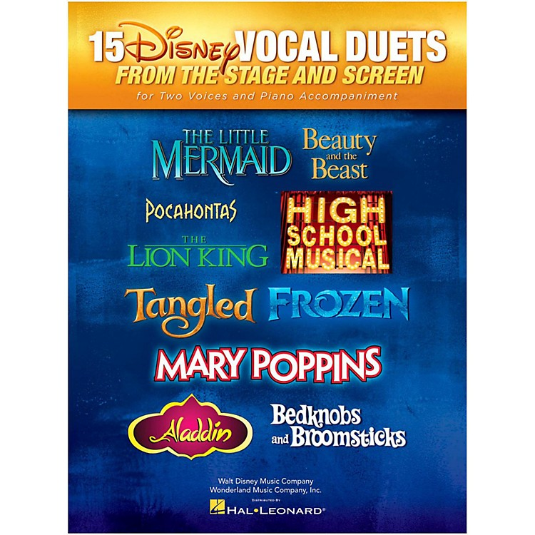 Hal Leonard15 Disney Vocal Duets from Stage and Screen for 2 Voices And Piano Accompaniment