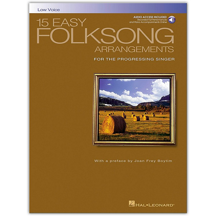 Hal Leonard15 Easy Folksong Arrangements for Low Voice Book/CD