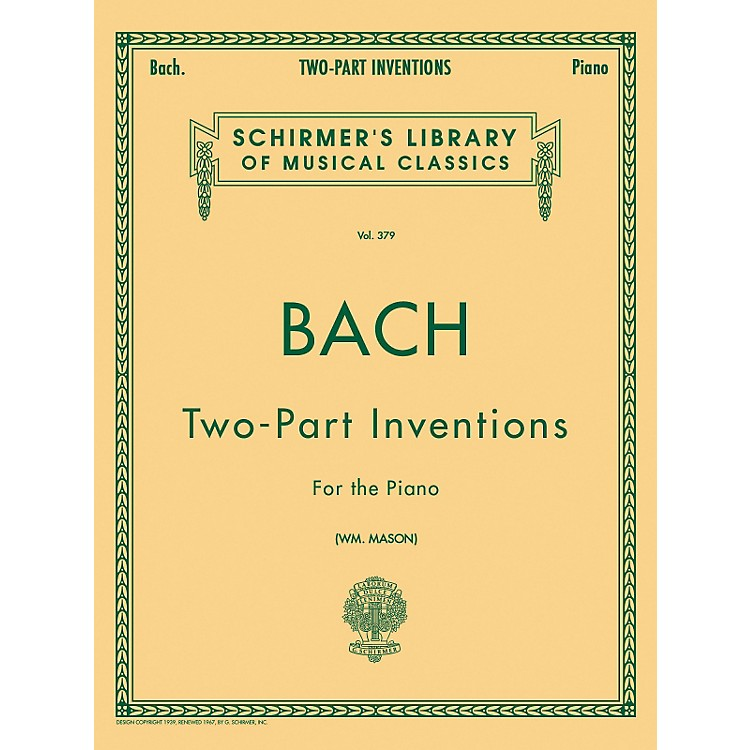 G. Schirmer15 Two Part Inventions for The Piano By Bach
