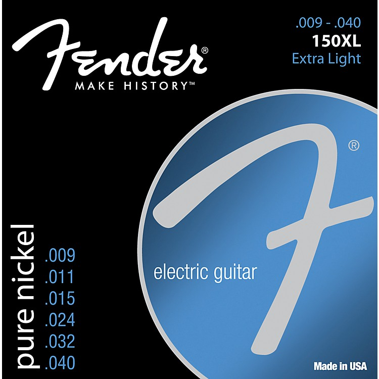 Fender150XL Original Pure Nickel Electric Strings - Extra Light