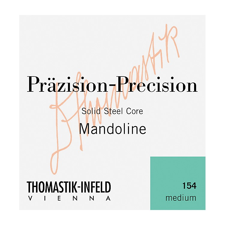 Thomastik 154 Tin-Plated Steel Flatwound Medium Mandolin Strings