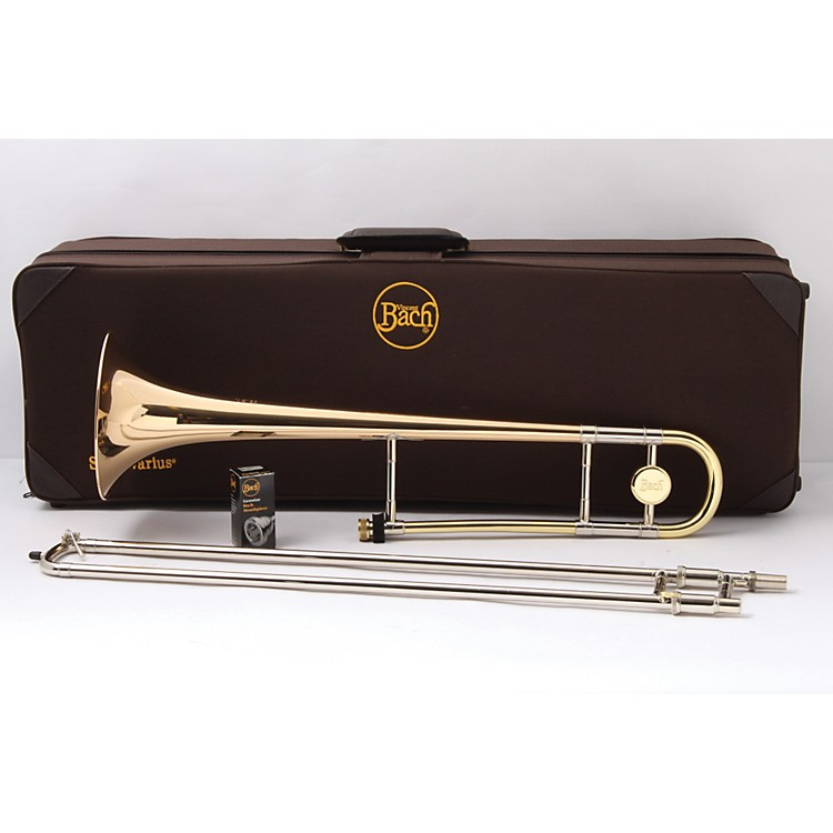 Bach 16 Stradivarius Series Trombone Lacquer, Gold Brass Bell Light 889406665019