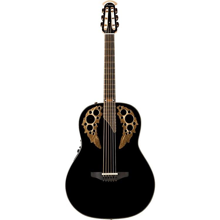 Ovation1678AV50-5 50th Anniversary Custom Elite Shallow Acoustic-Electric GuitarGloss Black