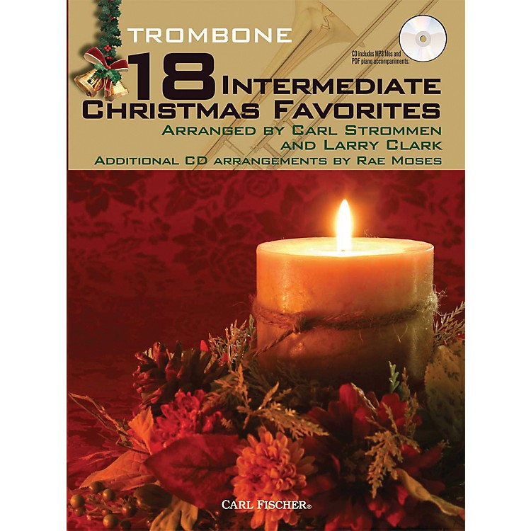 Carl Fischer18 Intermediate Christmas Favorites - Trombone Book/CD