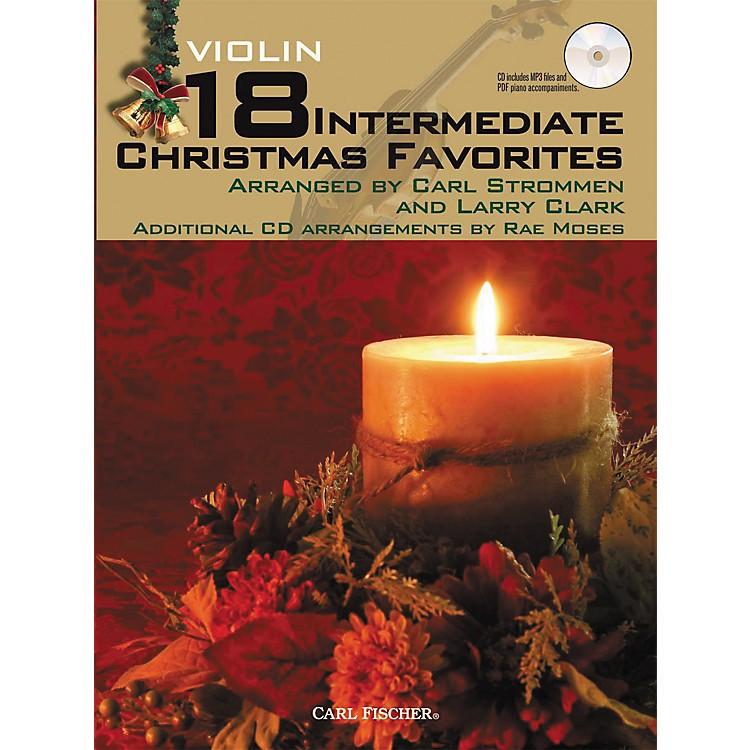 Carl Fischer18 Intermediate Christmas Favorites - Violin Book/CD