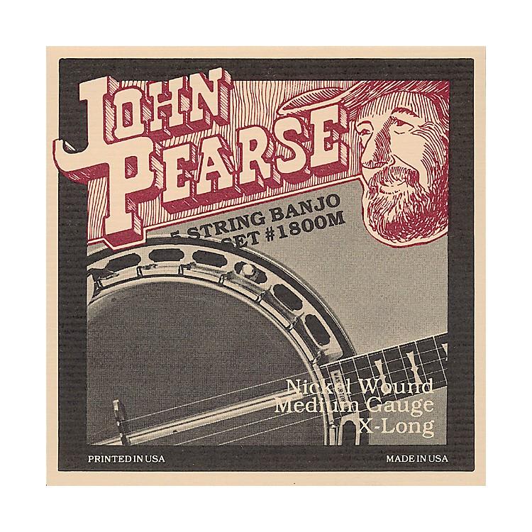 John Pearse1800M Medium Banjo Strings
