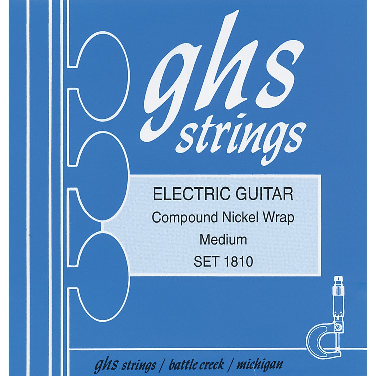 GHS1810 Compound Nickel Wrap Medium - Wound Third String