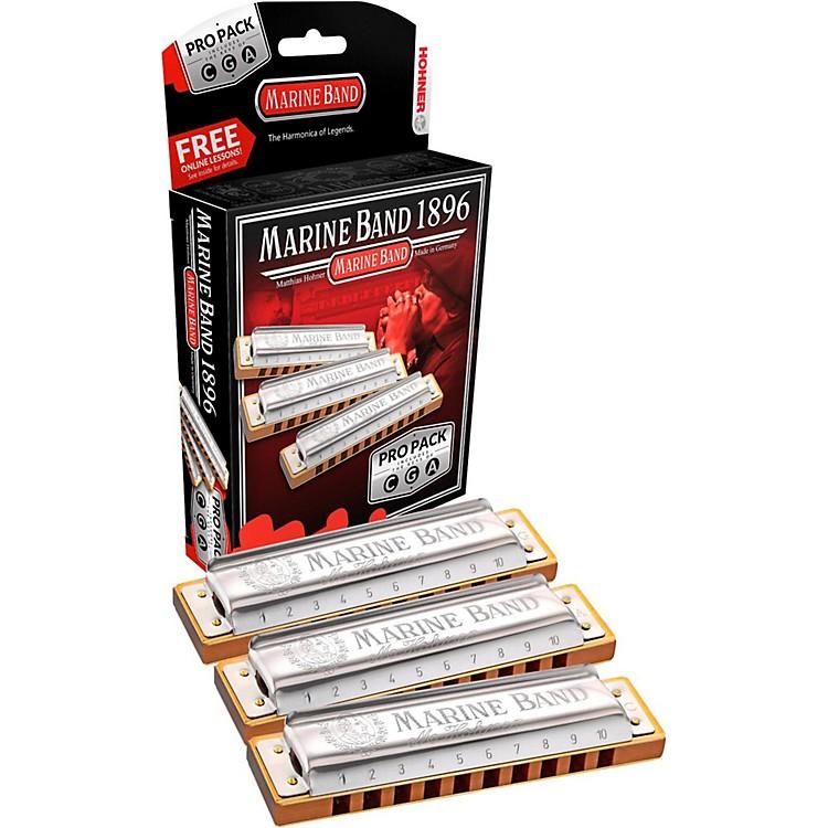 Hohner1896 Marine Band Harmonica Pro Pack