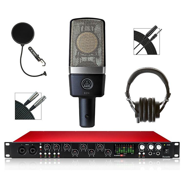 Focusrite18i20 Recording Bundle with AKG Mic and Audio-Technica Headphones