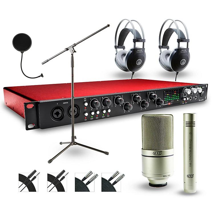 Focusrite18i20 Recording Bundle with MXL 990-991 Mics and AKG Headphones