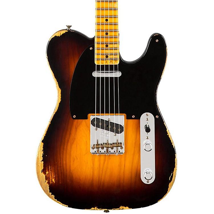 Fender Custom Shop1951 Heavy Relic Telecaster Maple Fingerboard Electric GuitarFaded 2-Color Sunburst