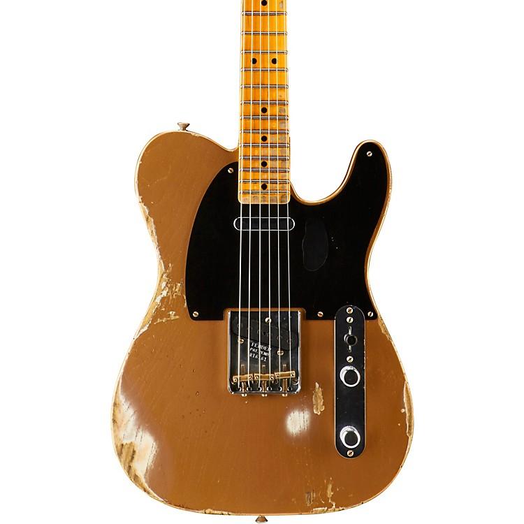 Fender Custom Shop1951 Heavy Relic Telecaster Maple Fingerboard Electric GuitarFaded Copper