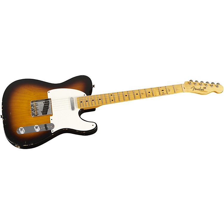 Fender Custom Shop 1952 Telecaster Relic Modified Electric Guitar 2 Color Sunburst