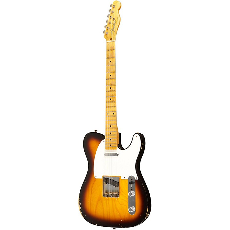 Fender Custom Shop 1955 Telecaster Relic Ash Electric Guitar Masterbuilt by Dale Wilson 2 Color Sunburst