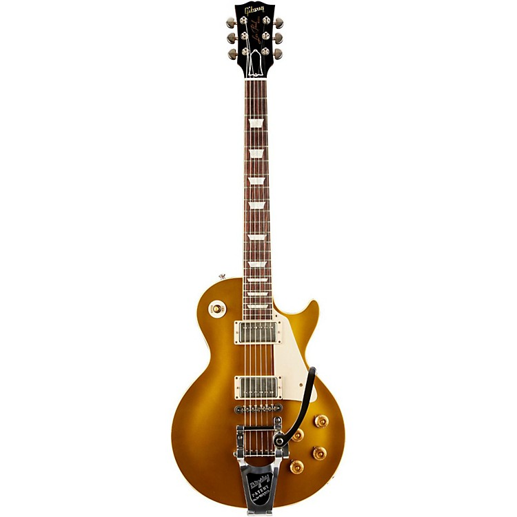 Gibson Custom1957 Les Paul Reissue VOS Electric Guitar with BigsbyAntique Gold