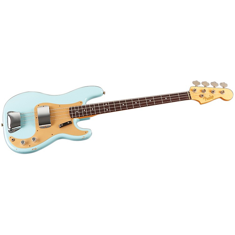 Fender Custom Shop 1959 P Bass Relic Guitar Sonic Blue