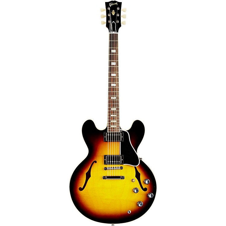 Gibson Custom 1963 ES-335 Historic Block Reissue Electric Guitar Vintage Sunburst Nickel Hardware