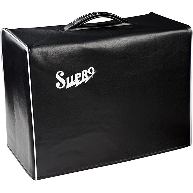 Supro1x10 Black Vinyl Amp Cover with Logo