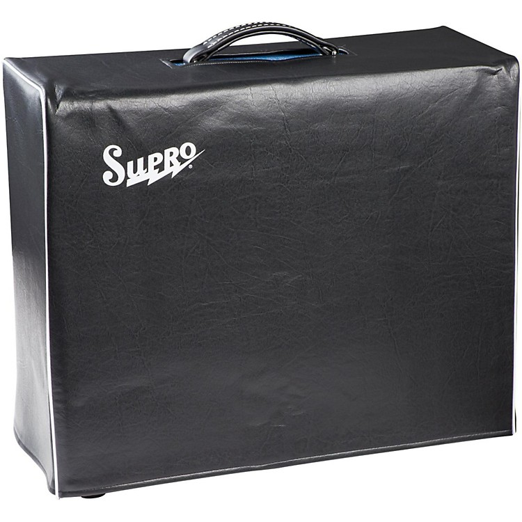 Supro1x15 Black Vinyl Amp Cover with Logo