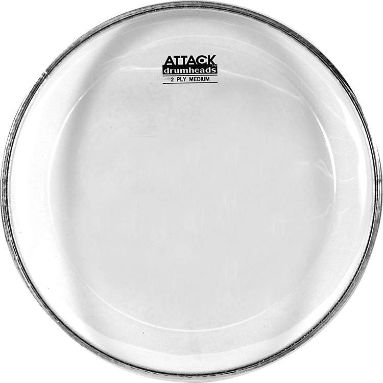 Attack 2-Ply Medium Clear Drumhead  #602 Bistro Black