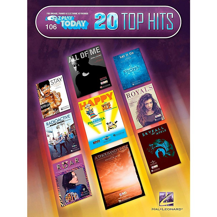 Hal Leonard 20 Top Hits E-Z Play Today #106