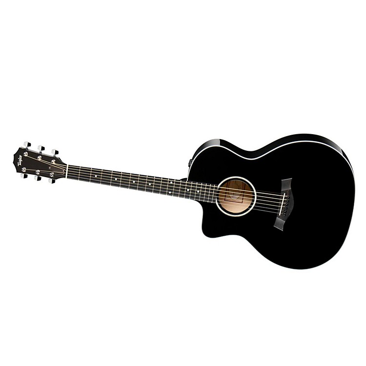 Taylor 200 Series 2014 214ce-L  Grand Auditorium Left-Handed Acoustic-Electric Guitar Black