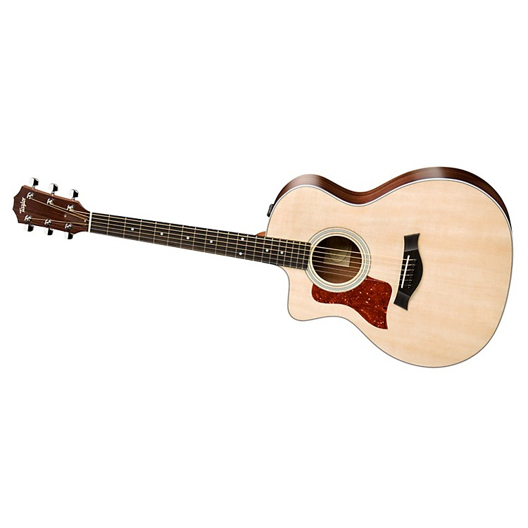 Taylor 200 Series 2014 214ce-L  Grand Auditorium Left-Handed Acoustic-Electric Guitar Tobacco Sunburst