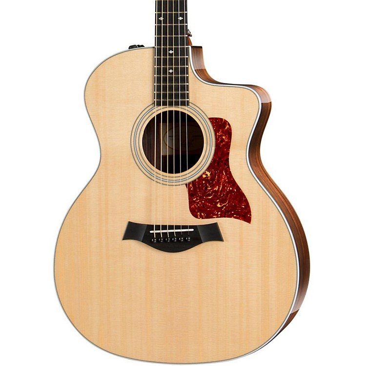 Taylor200 Series 214ce DLX Grand Auditorium Acoustic-Electric GuitarNatural