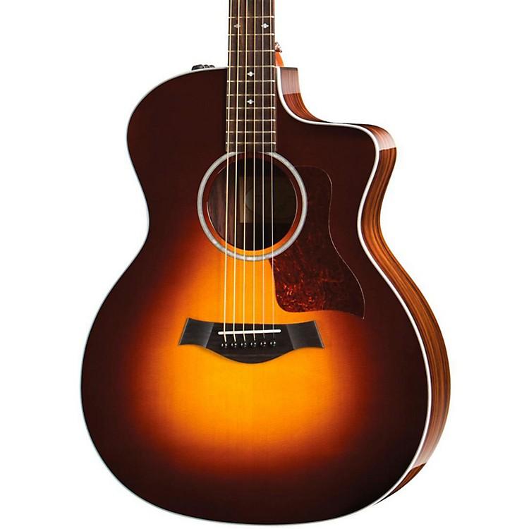 Taylor200 Series 214ce DLX Grand Auditorium Acoustic-Electric GuitarSunburst