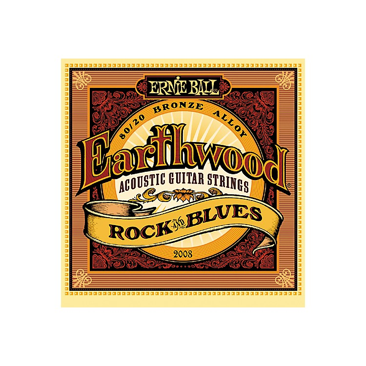 Ernie Ball2008 Earthwood 80/20 Bronze Rock and Blues Acoustic Guitar Strings