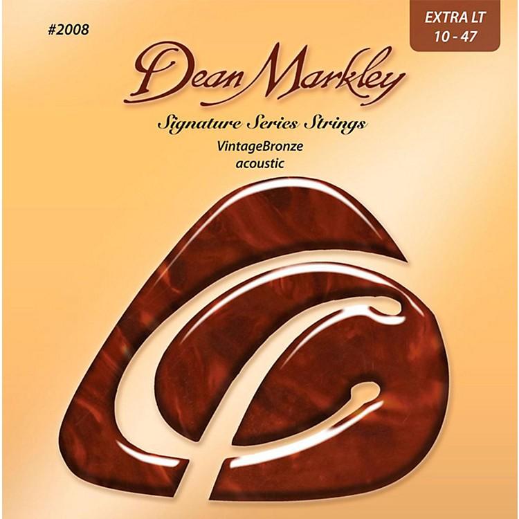 Dean Markley2008 Vintage Bronze, Extra Light, 10-47
