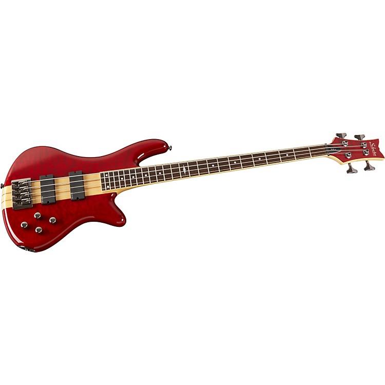 Schecter Guitar Research2011 Stiletto Elite-4 BassSee-Thru Red